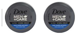 Dove Men + Care Ultra- Hydra Cream 2 Pack Face, Hands And Body