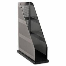 Rolodex Steel Gun Metal Magazine File Holder Black 22635