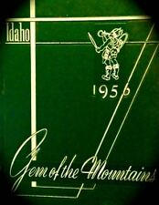 "1956 UNIVERSITY of IDAHO YEARBOOK ""GEM of the MOUNTAINS"" All-American skiers!"