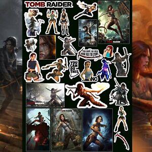 Maxwell Stickers - Tomb Raider Sticker Pack 30+ Laptop Skateboards Books Bottles
