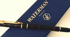 WATERMAN LAUREAT  RED MARBLE FOUNTAIN PEN MEDIUM PT  IN BOX  THE ORIGINAL 1