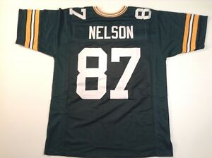 UNSIGNED CUSTOM Sewn Stitched Jordy Nelson Green Jersey - M, L, XL, 2XL