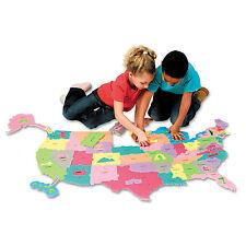 Chenille Kraft Wonderfoam Giant U.S.A Puzzle Map 73 Pieces 4377