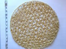 NEW Crate & Barrel Table Round Placemat 100% Rattan Hand Made Bamboo Woven Asian