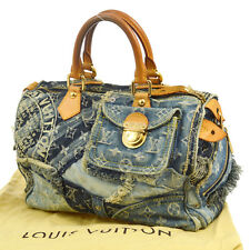AUTH LOUIS VUITTON PATCHWORK SPEEDY 30 HAND BAG MONOGRAM DENIM M95380 B31232