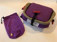 Booster seat Bubble Bum inflatable car seat travel purple + Bag. Kids Car Seat