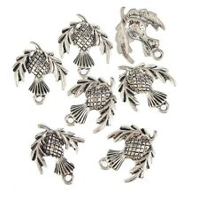Scottish Thistle Plant Beads Tibetan Silver Charms Pendant DIY 10pcs 18*23mm