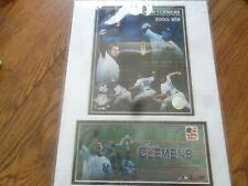 ROGER CLEMENS 300th Win June 13th, 2003  8X10 PHOTO NEW YORK YANKEES & STAMP