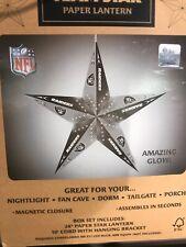 Raiders NFL Team Star Paper Lantern Tree Topper Lamp