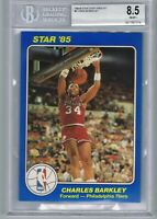 1984 Star Court Kings CHARLES BARKLEY Jumbo 5x7 Rookie Card BGS 8 . 5 Pre 1986