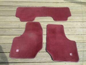 1991 GM Pontiac Grand Prix Front & Rear Red Floor Accessory Mat Set