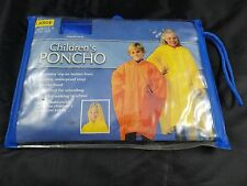 BERKSHIRE CHILDREN'S PONCHO W/REUSABLE CARRY POUCH -LARGE, AGE 8 OR OLDER- BLUE
