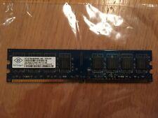 NANYA 1GB.2RX8.PC2-6400U-666-12-E1.800 / NT1GT64U8HB0BY-25D Memory Module