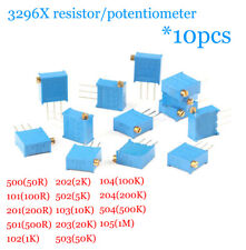 10pcs 50r1m 3296x Side Adjustable Resistor Precision Multi Turn Potentiometer