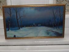 W Collingwood Mckechnie Winter Snow Scene Original Painting Rural Acrylic