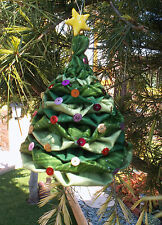 3D FABRIC HANGING HAND-CRAFTED CHRISTMAS TREE DECORATIONS FULL SIZE