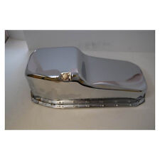 RPC Engine Oil Pan R9092; OE-Style Stock Chrome for 1980-1985 Chevy 283-350 SBC