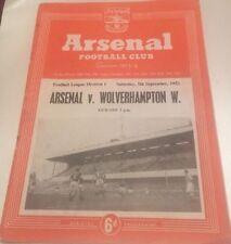 Past Domestic Leagues Teams A-B Arsenal Football Programmes
