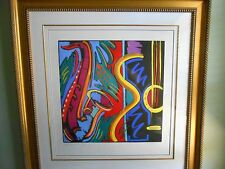 "SIMON BULL  ""BIG TIME""   2001  FRAMED AND MATTED NUMBERED AQUATINT*FREE SHIPPING"