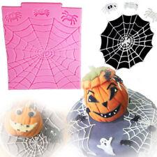 Halloween Silicone Spider Web  Fondant Mould Cake Decorating Chocolate Mold LG