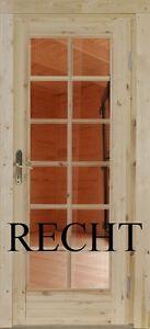 Holz Einbautür Gartenhaustür Holztür Einzeltür Nebeneingangstür Nach Maß