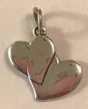 ❤️JAMES AVERY RETIRED ~ 2 SOLID PAIR OF HEARTS 💕~ SILVER ~ XTRA RARE ~ JA BOX❤️