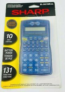 Sharp Scientific Calculator EL-501WB-BK Blue With Translucent Case New