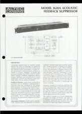 Orig Altec Lansing 1620A Acoustic Feedback Suppressor Owner's Instruction Manual