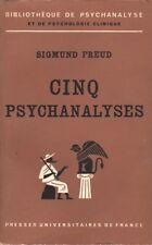 CINQ PSYCHANALYSES PAR SIGMUND FREUD AUX PUF BIBLIOTHÈQUE DE PSYCHANALYSE 1966