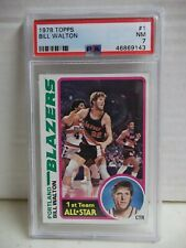 1978 Topps Bill Walton PSA NM 7 Card #1 NBA HOF Portland Trail Blazers