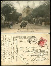 CHINA 1912 GT.NORTHERN TELEGRAPH CO SHANGHAI BPO on KE7 4c REDIRECTED BOURNE END