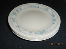 Corelle FIRST OF SPRING 5 bread & Butter  Blue White Floral on Beige