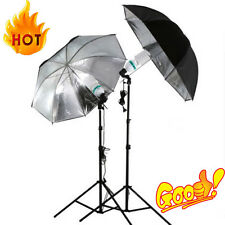 83cm Studio Flash Light Grained Black Silver Umbrella Reflective Reflector URXD