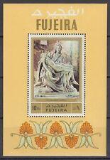 Fujeira 1972 ** Bl.91 A Skulpturen Sculptures Pieta Michelangelo