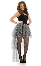 Ladies White Leopard Tail Back Tutu Layered White Party Fancy Dress Hen Party