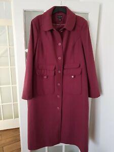 Long Tall Sally Wool  Blend Long Coat Winter Autumn Size 22