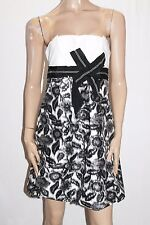 Portmans Brand Black White Floral Strapless Cocktail Dress Size 10-S BNWT #SS112