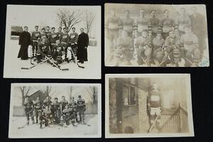 1920-1940 - QUEBEC HOCKEY PHOTOS (4) - ORIGINAL