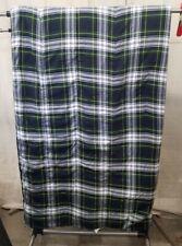 Ralph Lauren Dress Gordon Andover Plaid Tartan Green Blue Yellow Comforter TWIN