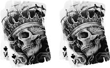 2 x ACE de cráneo Vinilo Gráfico, etiqueta engomada, etiqueta, Personalizado, Bicicleta, coche, Tuning 039