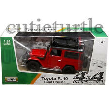 Motormax Toyota FJ 40 Land Cruiser 4x4 Off Road 1:24 Diecast 79137 Red