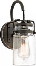 Rustic Vintage Canning Mason Jar Style Wall Sconce Farmhouse 1-Light Glass Lamp