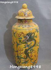 China Porcelain Carved Dragon Loong Beast Phoenix Bottle Kattle Pot Vase Jar