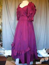 Victorian Edwardian Civil War Dickens Caroler Grape Purple Dress Formal Gown