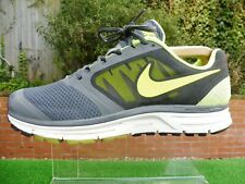 RARE GENUINE 2013 NIKE ZOOM VOMERO 8 GREY/VOLT MENS RUNNING TRAINERS SIZE UK 8
