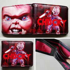 Movie Child's Play Chucky Logo 12cm Leather Wallets Purse Gift