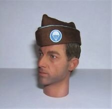 Banjoman 1/6th SCALA Custom WW2 US Airborne Paracadutista Marrone Garrison cap