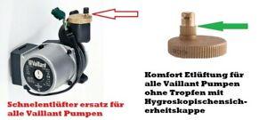 Reparaturset für Defekte Schnellentlüfter für Vaillant Pumpen , kein Tropfen meh