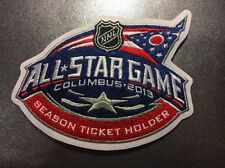 2013 NHL Lockout Canceled All-Star Game Jersey Patch Season Ticket Holder Rare