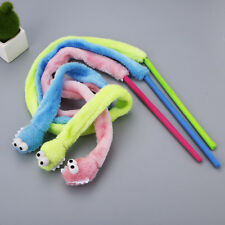 (W007) Cat Kitten Various Coloured Snake Teaser Wand Activity Toy